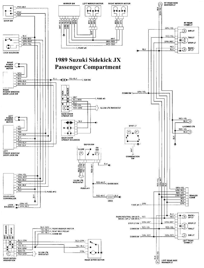 43f5 1994 Suzuki Sidekick Wheel Drive System Wiring Diagram Wiring Resources