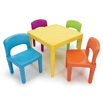 Tot Tutors Kids 5-Piece Table and Chair Set