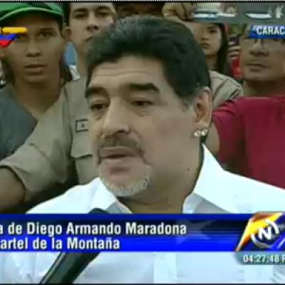 El astro del fútbol argentino Diego Armando Maradona