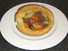 Shin of Beef Stew in Giant Yorkshire Pudding