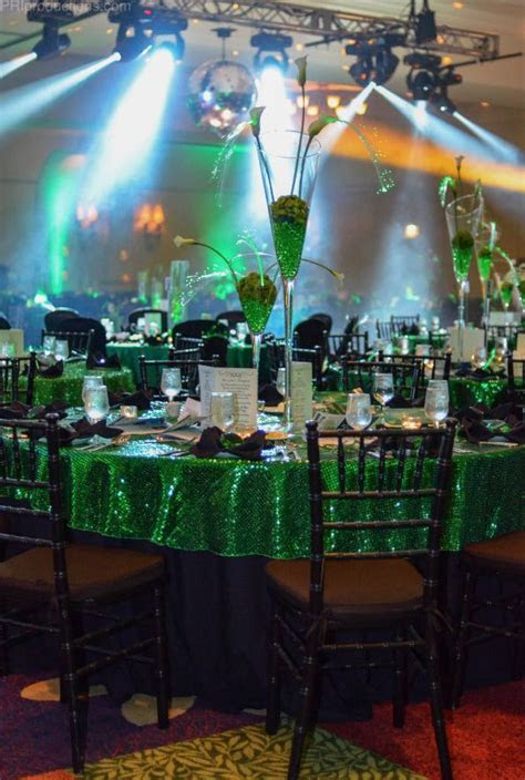 Wizard of Oz   Emerald City inspired tables. Using green