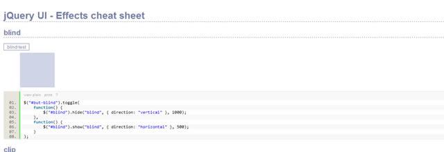 jQuery UI - Effects Cheatsheet (HTML)