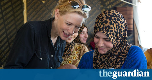 Cate Blanchett leads celebrities in UN video poem for refugees | World news | The Guardian
