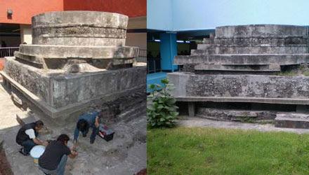 Templo Ehécatl-Quetzalcóatl en estación Pino Suárez