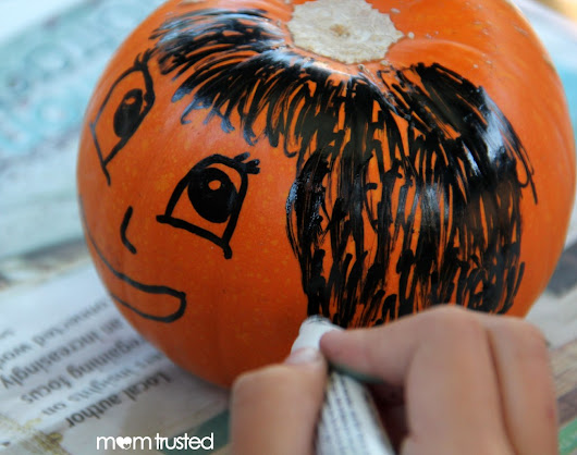 Paint Pen Pumpkin Decorating