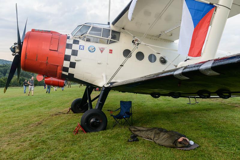 Antonov AN_2 camping at Hahnweide 2013