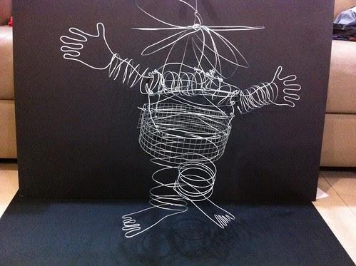 wire art lantern - 1