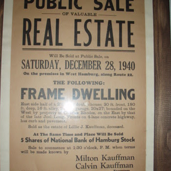early auction advertisements
