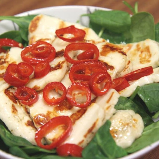 Toasted Halloumi Salad with a Citrus Dressing