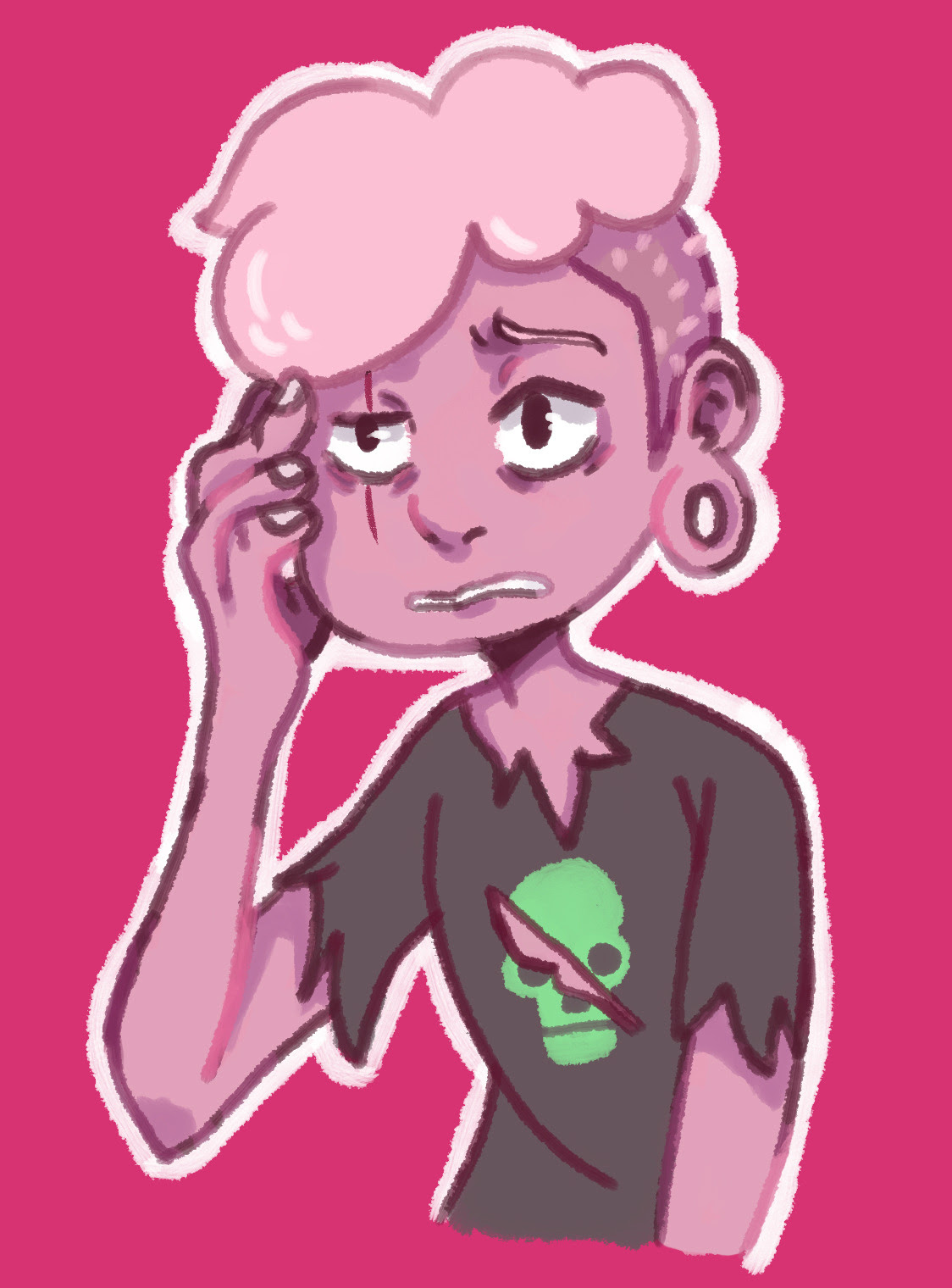 It's everyones favorite pink zombie boy! available on my redbubble here