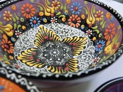 トルコ 皿 カラフル,トルコのお皿,北欧展 松菱,松菱 トルコの皿,世界の皿