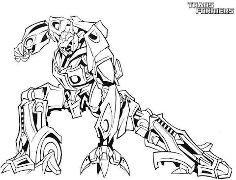 Beautiful Transformers Coloring