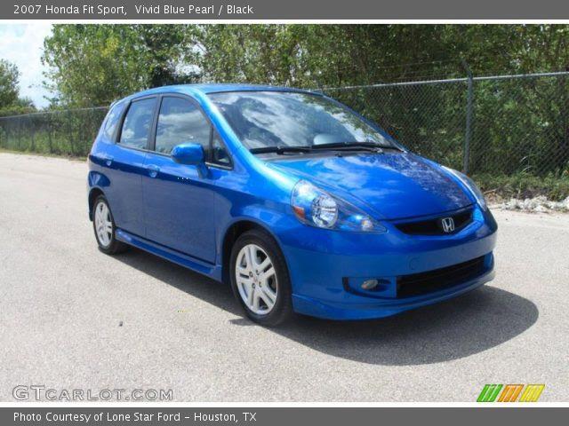 Vivid Blue Pearl - 2007 Honda Fit Sport - Black Interior ...
