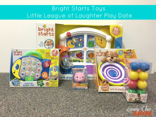 Bright Starts Toys Little League of Laughter Play Date - Living Chic Mom