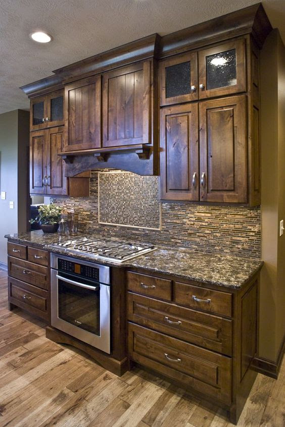 Like the tone of the Rustic Knotty Alder Kitchen Cabinets ...