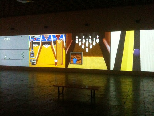 "Cory Arcangel's ""Various Self Playing Bowling Games"" (2011)"