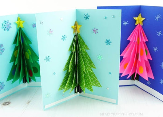 How to Make a 3D Christmas Card | I Heart Crafty Things