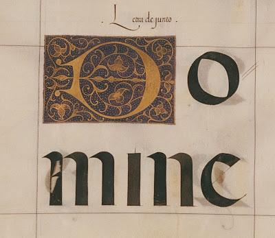 medieval calligraphy - letra de junto