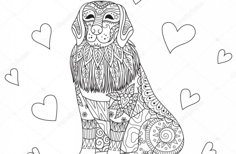 kleurplaat hond labrador