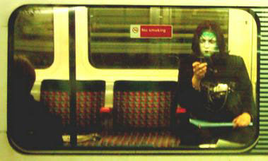 Ghoulish Texting on the London Underground
