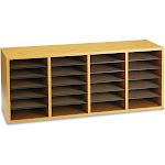 Safco 24-Shelf Adjustable Literature Organizer, Medium Oak
