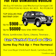 Cash for Junk Car Christchurch - Unwanted Car Van 4WDCar Collection