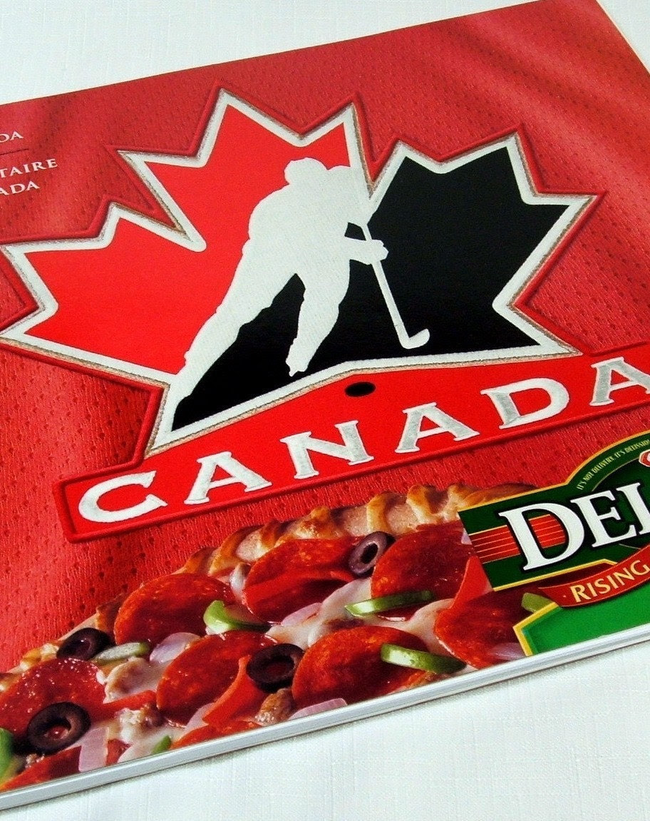 Team Canada Pizza Recycled / Upcycled Notebook