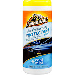 Armor All 78509 Air Freshening Car Protectant Wipes, Cool Mist Scent, 25-count