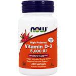 NOW Foods Vitamin D3 Highest Potency 5000 IU 240 Softgels