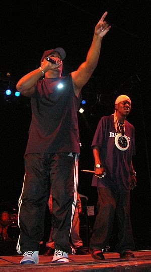 Chuck D and Flavor Flav performing at the Bilb...