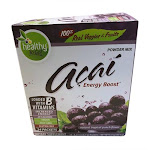 To Go Brand Acai Natural Energy Boost Powder, Tropical Punch, 24 Packets