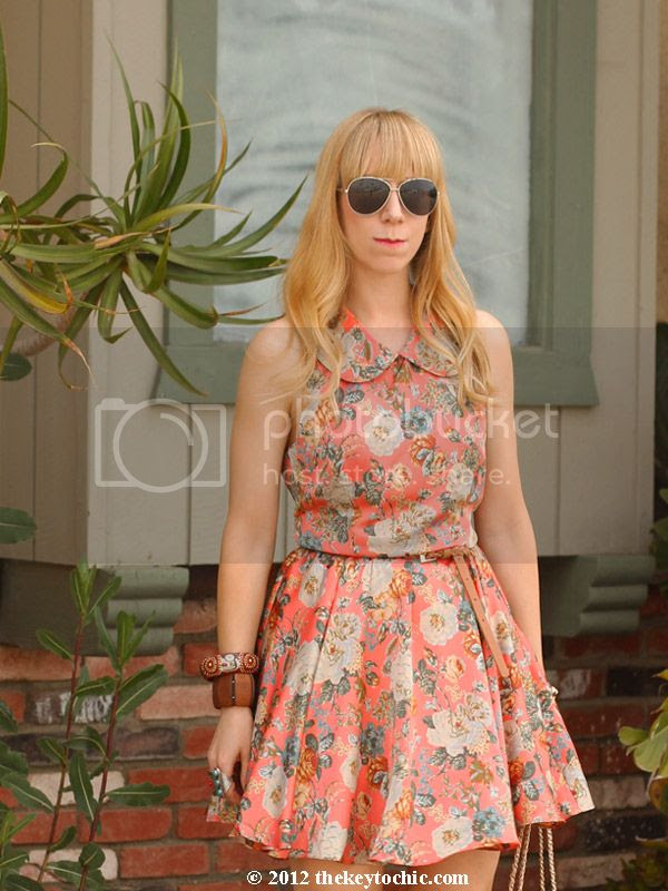 Sugarlips floral dress, Peter Pan collar, Los Angeles fashion blog, southern California style