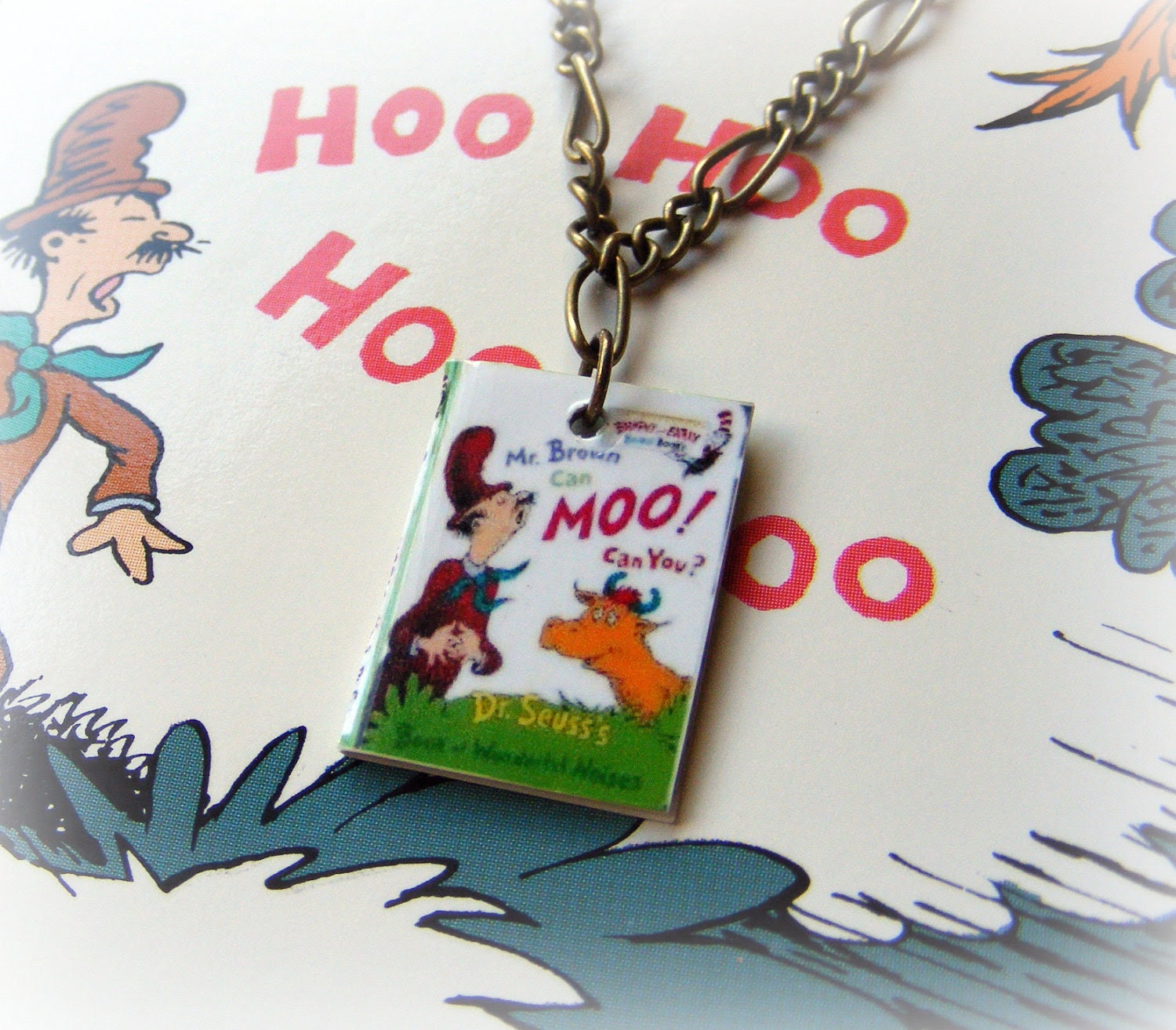 Necklace Dr. Seuss's Mr. Brown Can Moo