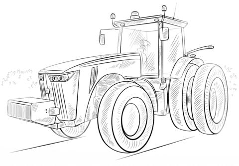 Coloriage Tracteur John Deere Coloriages à Imprimer Gratuits
