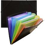 Poly Letter Document Sorter Black & Multicolor - Each OF519619