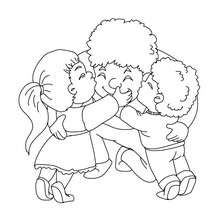 Dibujos Para Colorear Padre Con Su Hijos Eshellokidscom