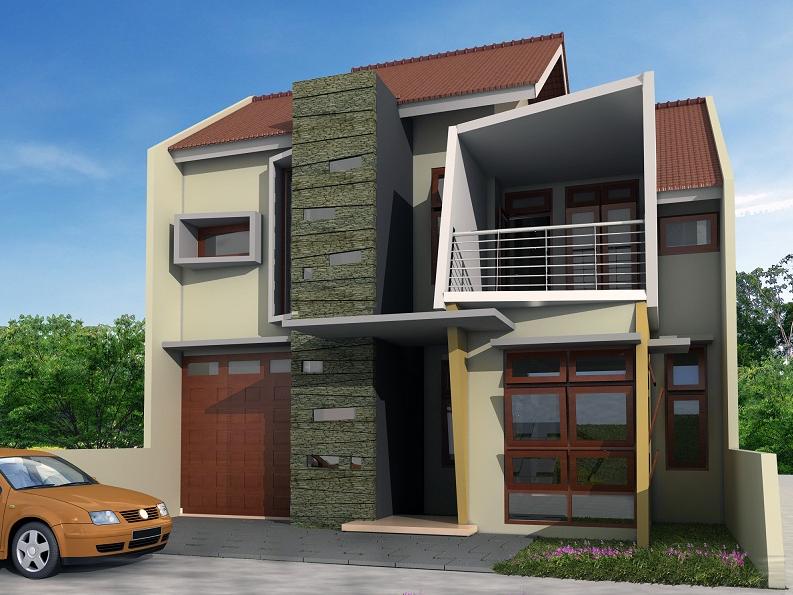 desain rumah minimalis 2 lantai luas tanah 150m2