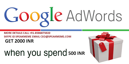 Google Adwords Coupon | Google Adwords Voucher | Adword Coupon India