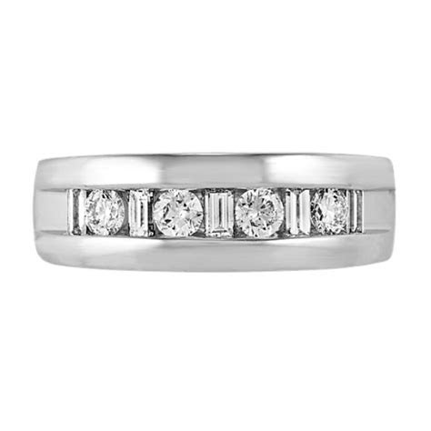 Diamond Mens Band in Platinum (7mm)   Shane Co.