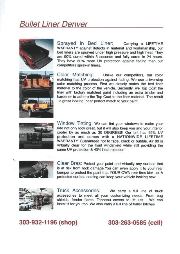Bullet Liner Cost : bullet, liner, Spray, Truck, Liner, Denver, Bedliner