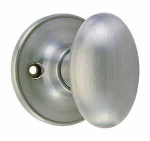 Design House 750620 Egg Dummy Door Knob, 2-Way Latch, Satin Nickel ...