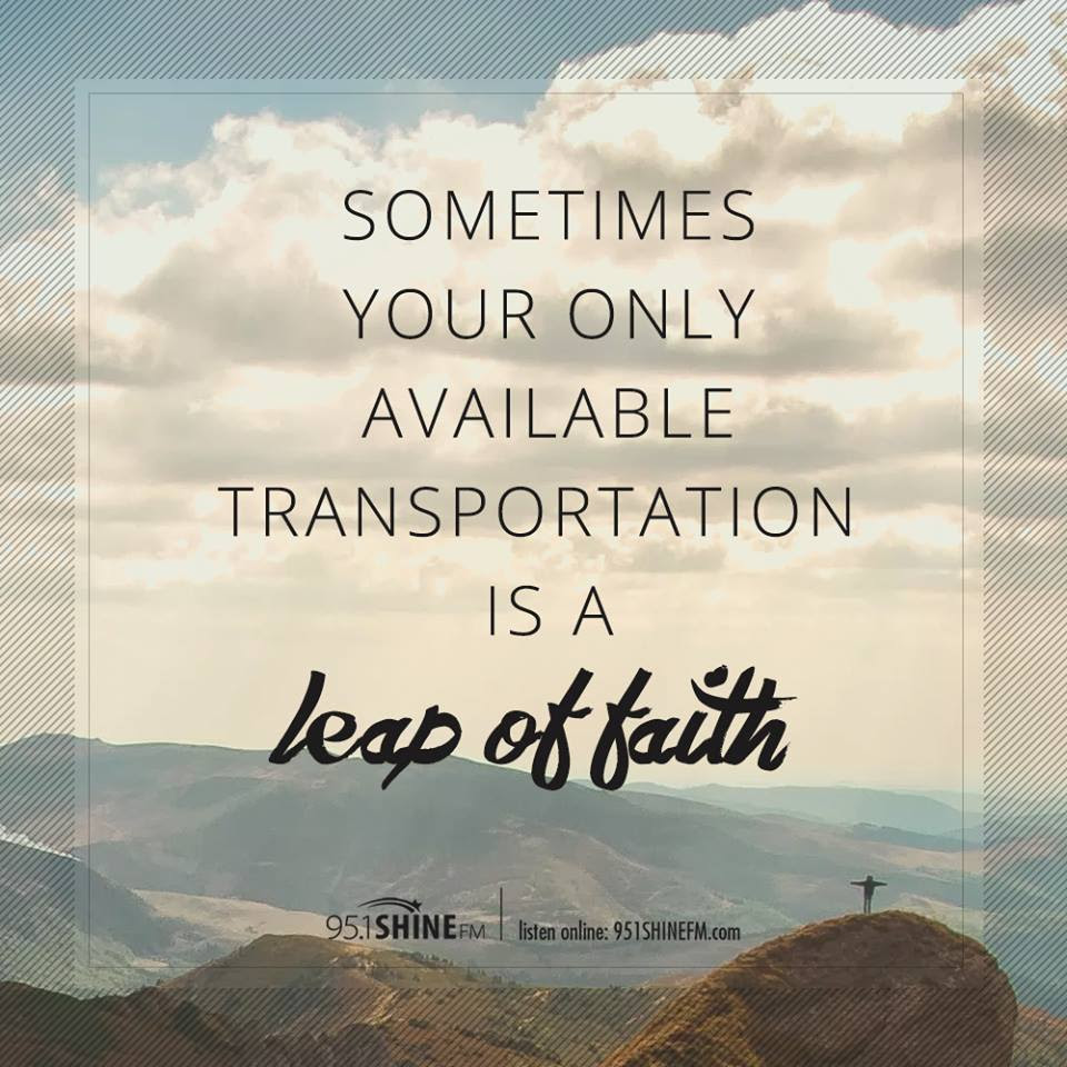 Leap Of Faith Trusting God When You Cant See The Other Side