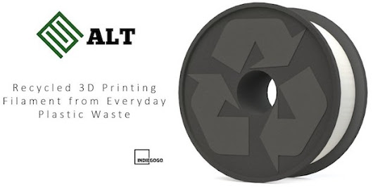 Recycling plastic waste for high performance 3D printing filament the aim for ALT LLC