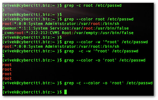 How to count total number of word occurrences using grep on Linux or Unix