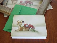 Christmas Card: Reindeer & Elf