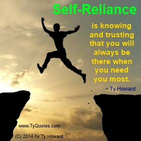 Ty Howards Confidence And Self Reliance Quotes Tyquotescom