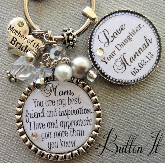 Mother Of The Bride Gift Personalized Keychain Best Friend And