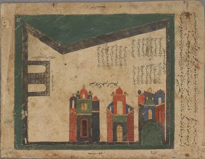 Mahdiyah map - Arabic manuscript