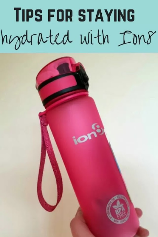Tips on staying hydrated with Ion8 leakproof water bottles