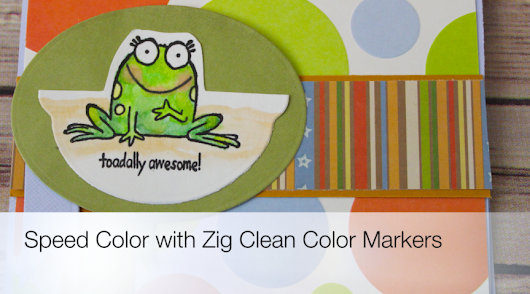 Speed Color Using Zig Clean Color Real Brushes - Craft Test Dummies